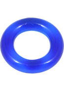 Elastomer Relaxed Fit Cock Ring Blue
