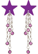 Body Charms Non Piercing Body Jewelry Purple Star Adhesive