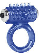 Apollo 7 Fuction Premium Enhancer Vibrating Cockring Blue...
