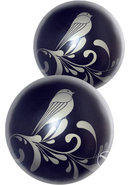 Fashonista Zen Wa Balls Kegal Exercisers Glass Black 2 Each...