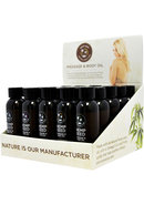 Hemp Seed Massage And Body Oil Display 25 Each Assorted 2...