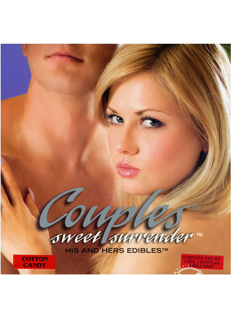 Couples Sweet Surrender His And Hers Edibles 2 Piece Set Cotton Candy