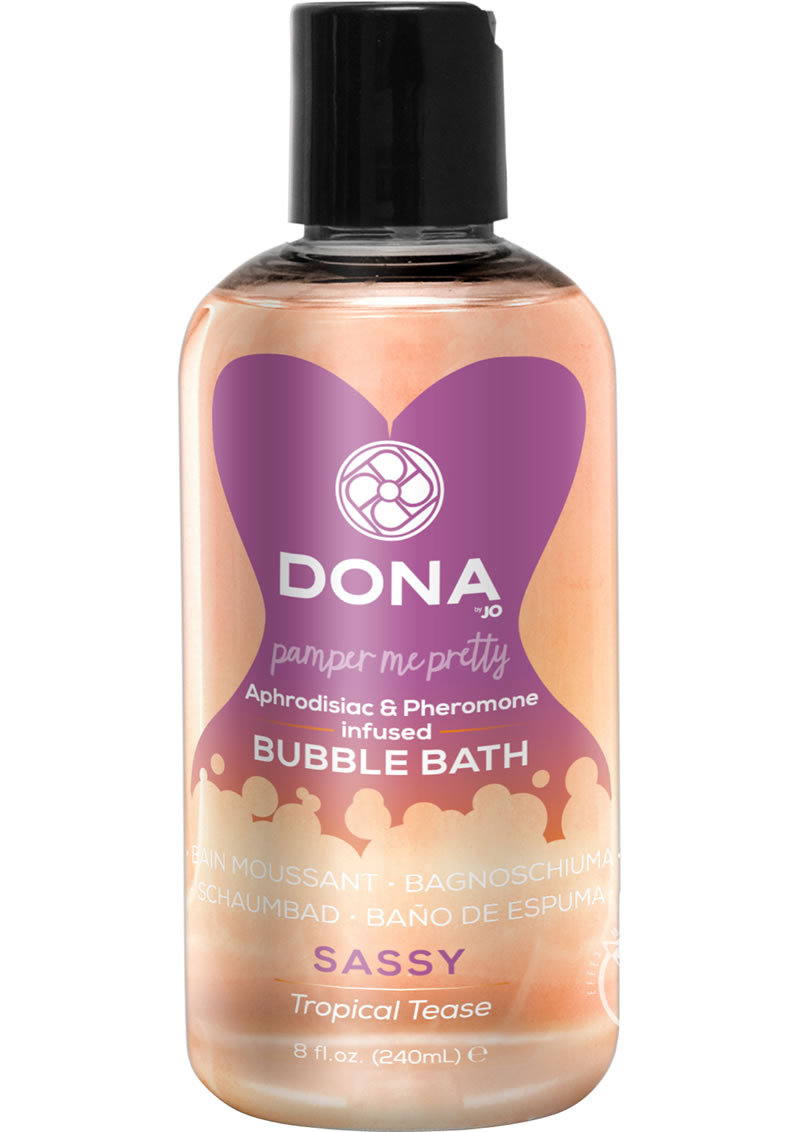 Dona Aphrodisiac And Pheromone Infused Bubble Bath Sassy Tropical Tease 8 Ounce
