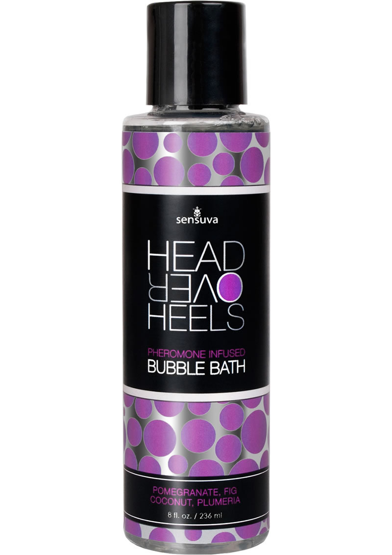 Head Over Heels Pheromone Infused Bubble Bath Pomegranate, Fig, Coconut And Plumeria 8 Ounce
