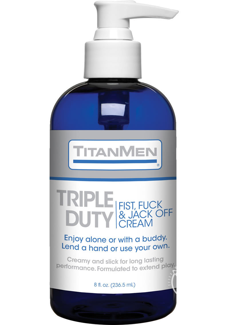 Titanmen Triple Duty Fist, Fuck And Jack Off Cream 8 Ounce Pump